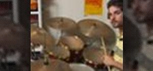Play a drum rock shuffle