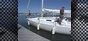 Use an aft spring line in sailing