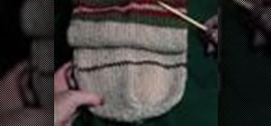 Insert a heel when knitting a sock