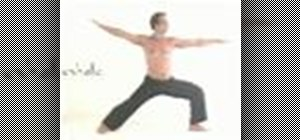 Do a yoga sun salutation with a warrior pose