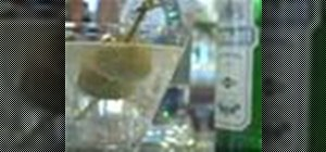 Mix a glass gin martini cocktail