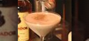 Mix a Brandy Alexander cocktail