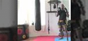 Do a cross punch in kickboxing
