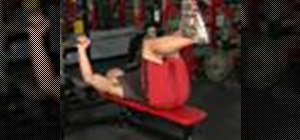 Execute bench presses with barbells