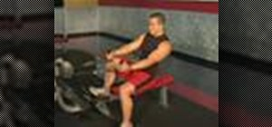 Do a seated row exercise for weigh training