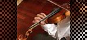 Play an octave exercise on the violin