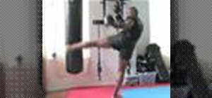 Do a kickboxing roundhouse kick