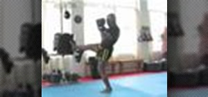 Do a kickboxing front kick