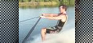 Water ski barefoot with a handle