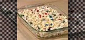 Make a popcorn cake