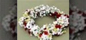 Make a flower wreath crown