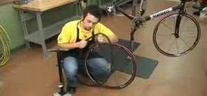 Change a bicycle tire at home