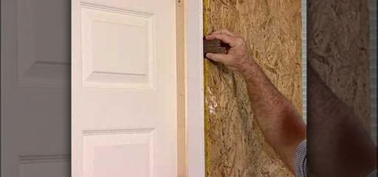 How To Install A Flat Jamb Interior Door Construction Repair Wonderhowto