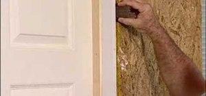 Install a flat jamb interior door