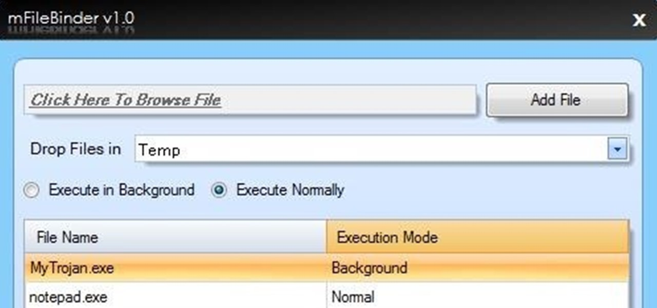 Bind (Join) Two or More Files into Single Executable File