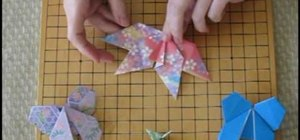 Make an origami butterfly