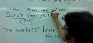 Replace possessive nouns and adjectives with pronoun