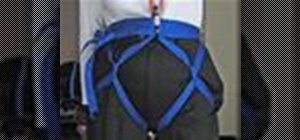 Tie a hasty webbing harness for search & rescue