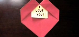 Fold an origami heart with a message for Valentine's Day