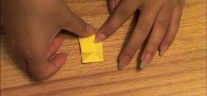 Fold a 3D origami pyramid