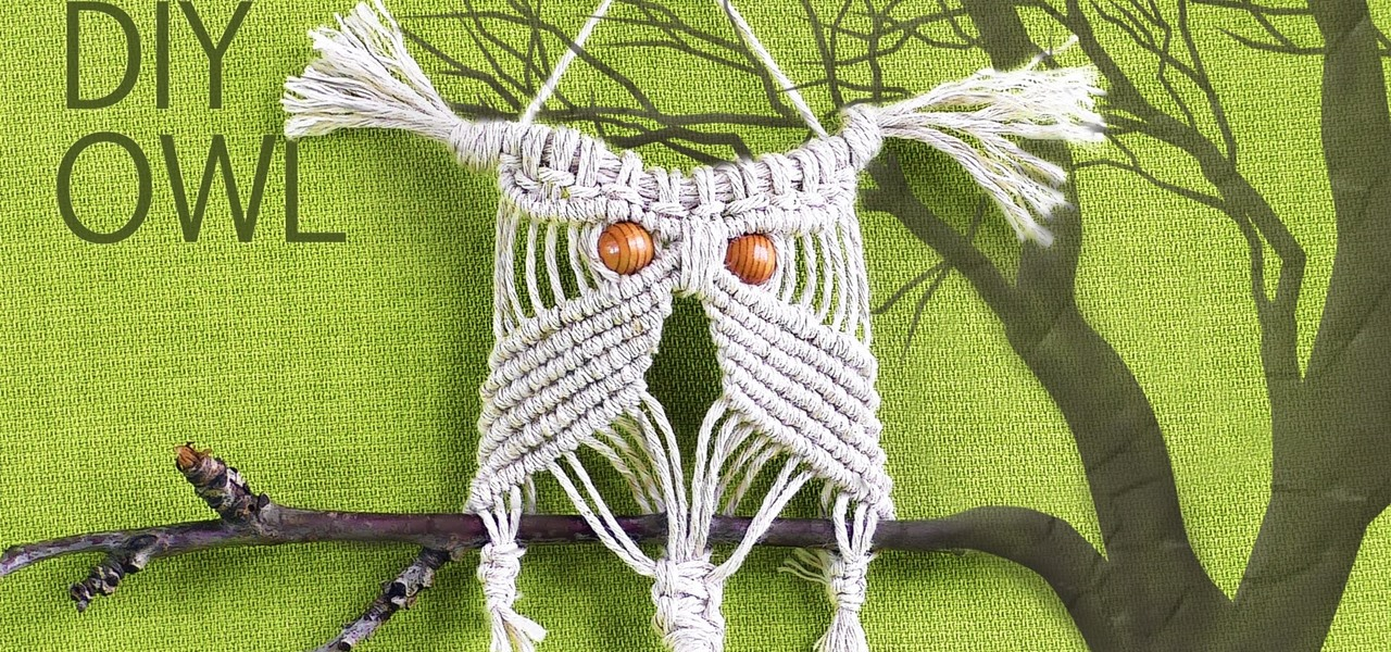 Make Easy Macrame Owl - Wall Hanger Tutorial