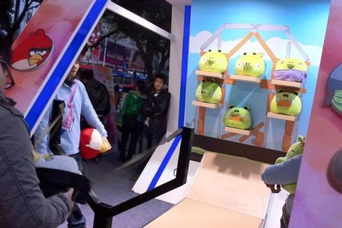 Toss a Bird, Win a Prize: Angry Birds Arcade Booth in Guangzhou, China