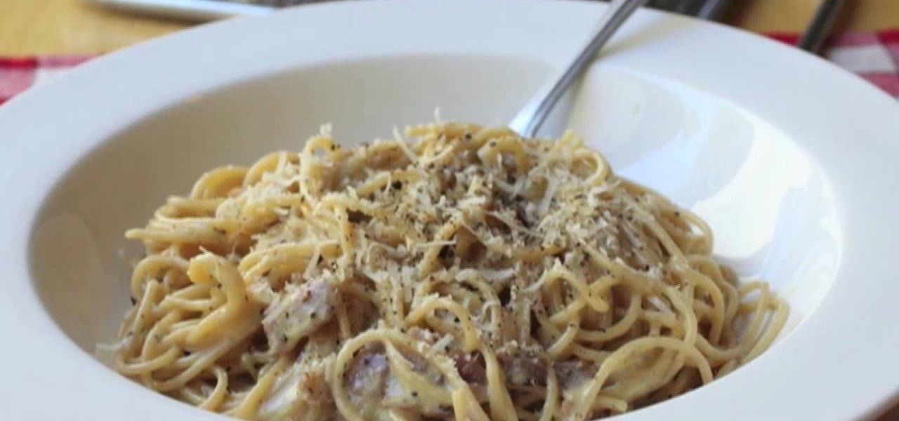 How to Make traditional Italian spaghetti carbonara « Pasta