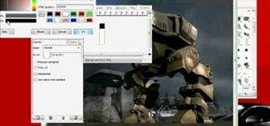 Create an LCD screen effect in GIMP