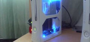 Install LED lights and a case window on an XBox 360