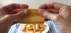 Fold realistic and easy to fold origami French fries