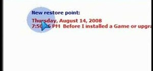 Use System Restore to recover your Windows XP or Vista system