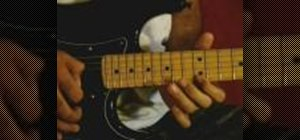 Play lead guitar licks on the electric guitar