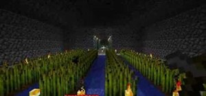Farm for wheat and grass with seeds in Minecraft