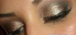 Create a mocha pearl eyes makeup look