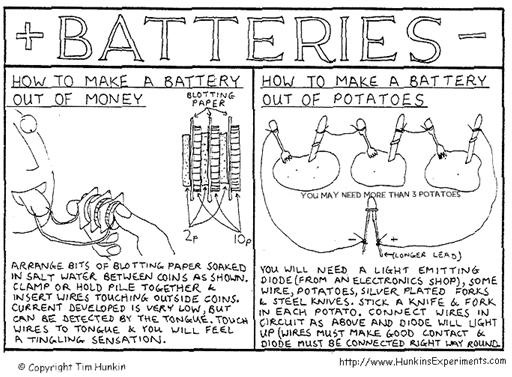 Make a Battery Out of Money