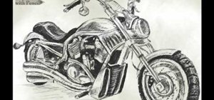 Draw a Harley-Davidson V-ROD