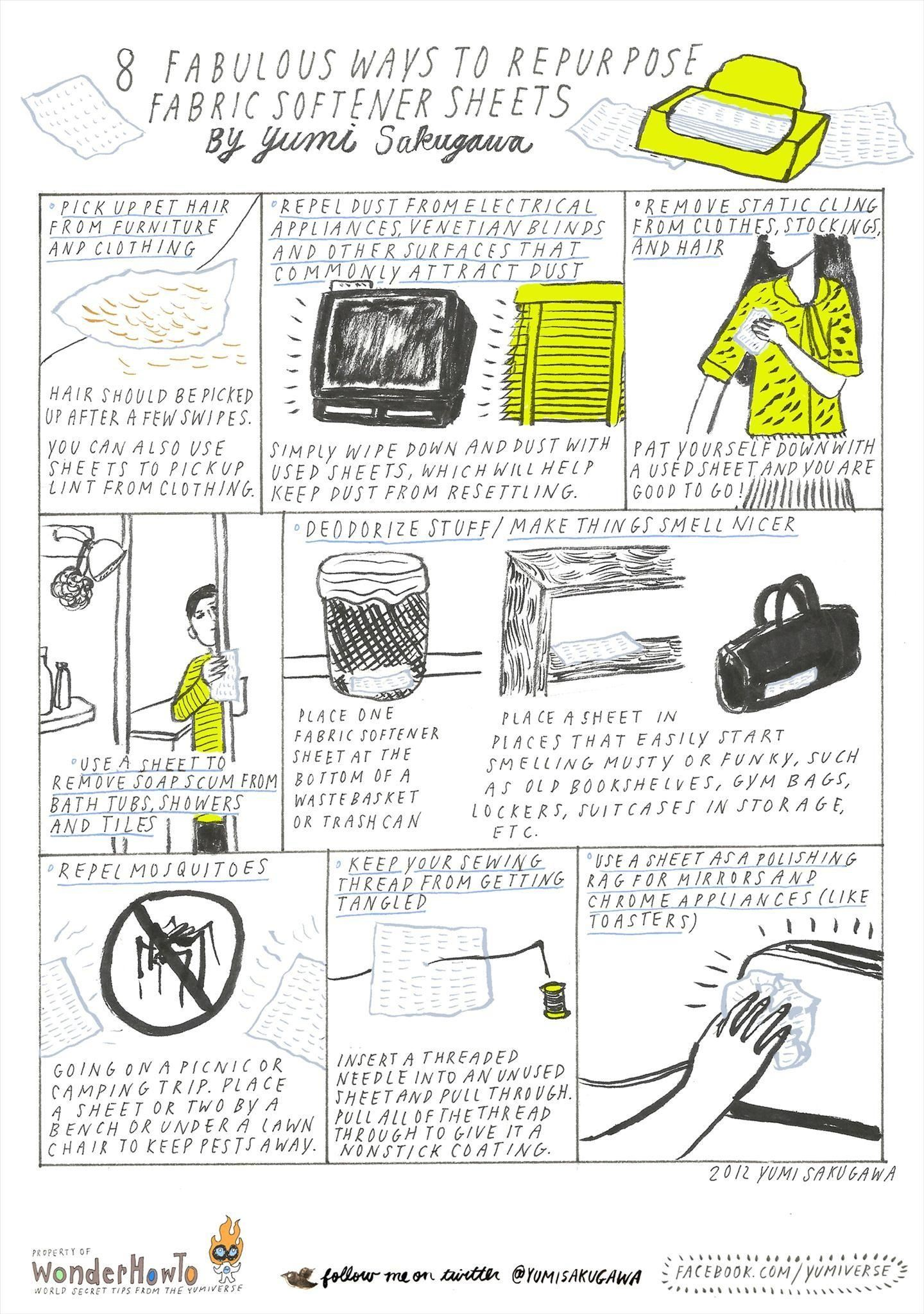 8 Fabulous Ways to Repurpose Fabric Softener Dryer Sheets