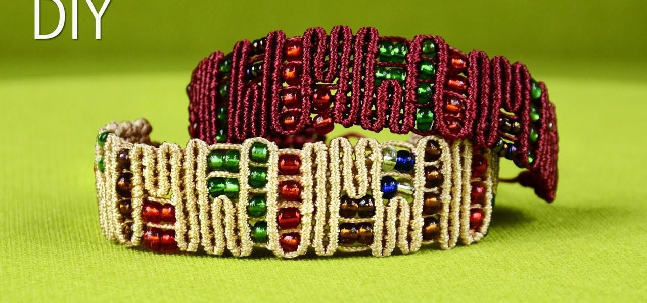 DIY Snaky ZigZag Lines Bracelet