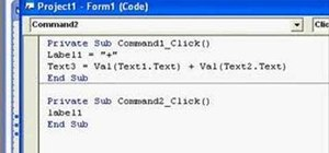 Create a simple calculator application in Visual Basic 6