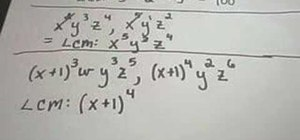Solve & find the least common multiple