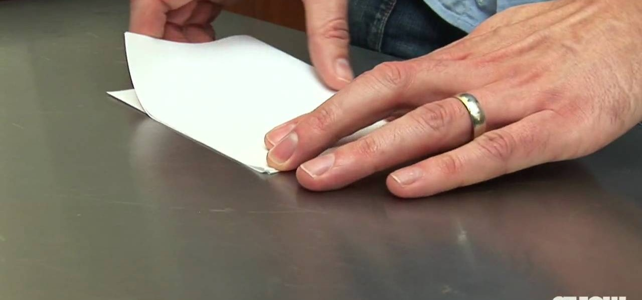 Open a Bottle of Beer Using a Sheet of Paper