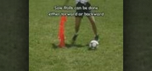 Perform sole rolls in soccer