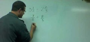 Divide mixed numbers in mathematics
