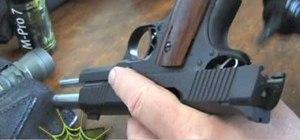 Lubricate an auto pistol