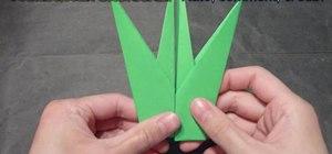 Craft a delicate origami tulip leaf