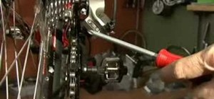 Adjust a rear derailleur