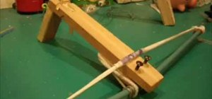 Easily make a homemade crossbow