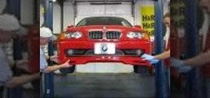 Install a spoiler to a BMW E46 330ci