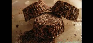 Make delicious milk chocolate bath bon bons