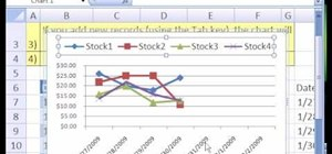 Make a dynamic stock price line chart in MS Excel